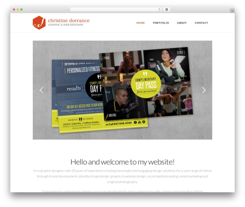 X WordPress theme - christinedorrance.com