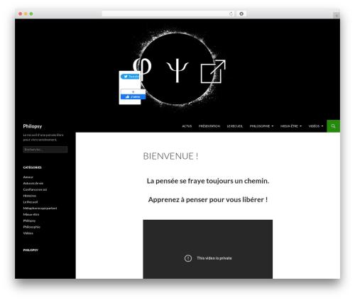 Best WordPress template Twenty Fourteen - recueil-philopsy.com
