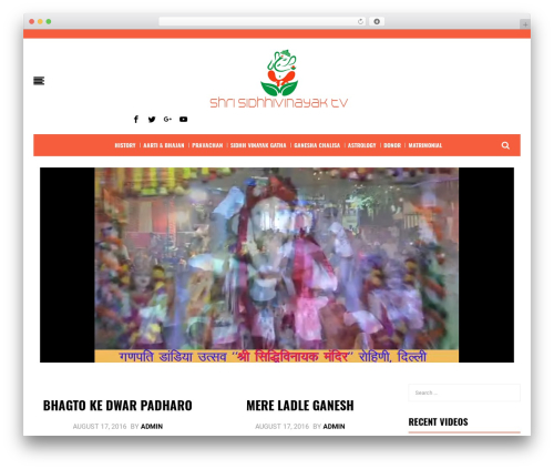 BestBlog WordPress blog theme - siddhivinayaktv.com