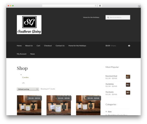 Boutique template WordPress free - southerngiving.com