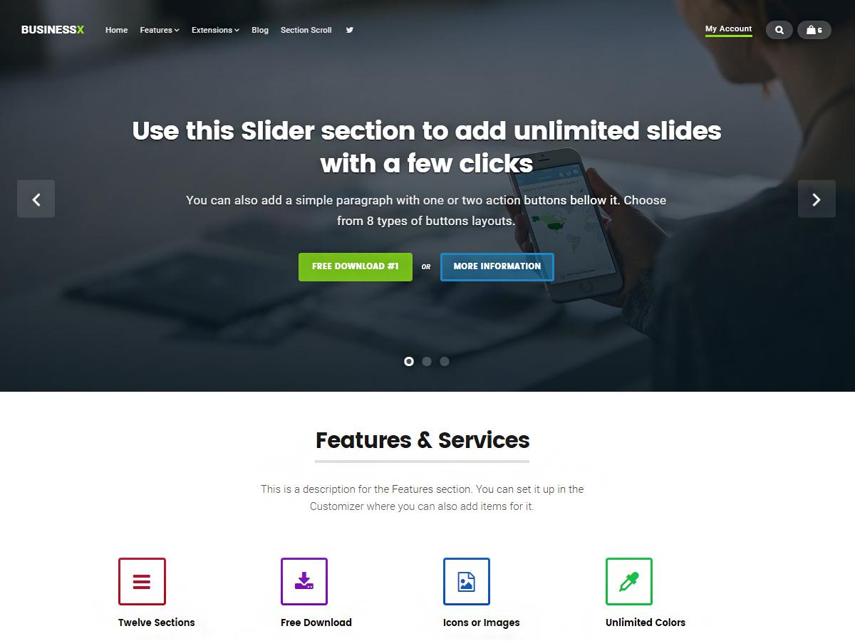 Businessx WordPress ecommerce theme