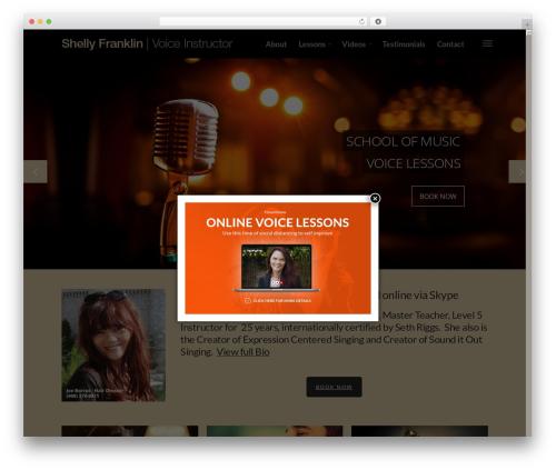 Salient WordPress website template - shellyvocals.com