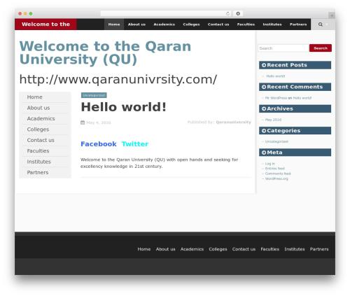 SmartAdapt free WP theme - qaranuniversity.com