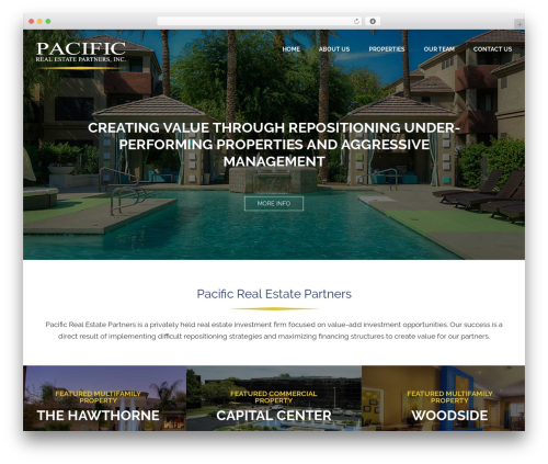 WordPress website template Avada - prepartners.com