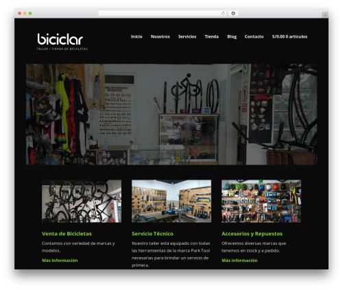Ascension WordPress theme - biciclar.com