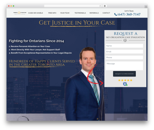 Business Pro Theme company WordPress theme - powelllitigation.com