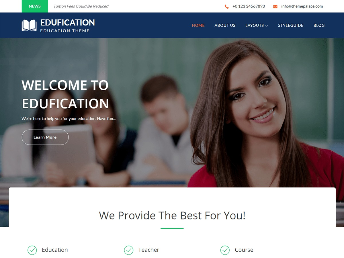 Edufication business WordPress theme