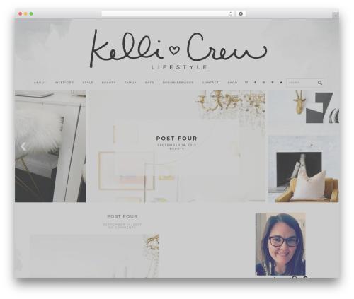 Genesis WordPress theme - kelliandcrew.com