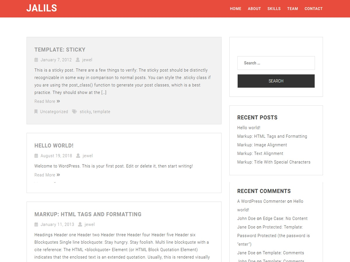 Jalil theme WordPress