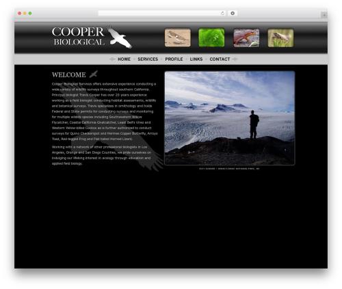BLANK Theme best WordPress theme - cooperbiological.com