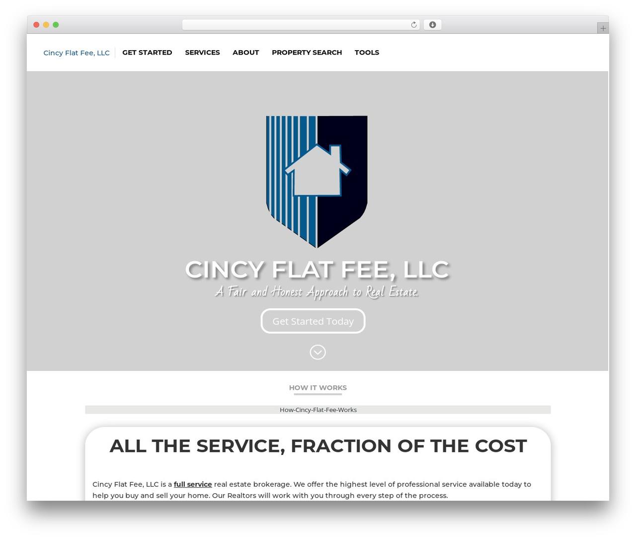 Divi real estate template WordPress - cincyflatfee.com