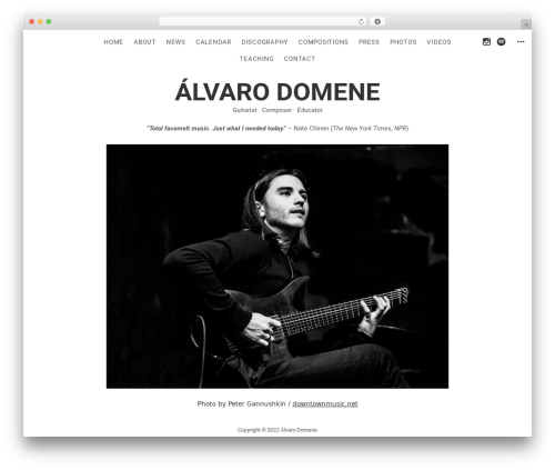 Encore best WordPress template - alvarodomene.com