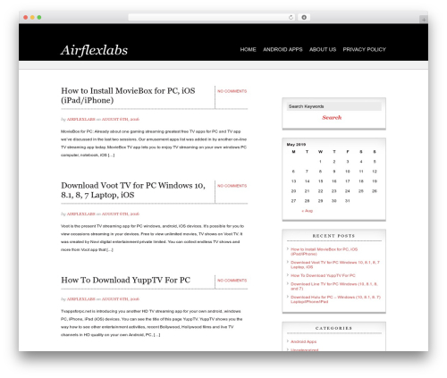 Noble WordPress blog template by NewWpThemes com - page 3