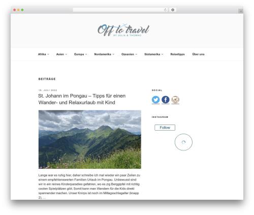 Twenty Seventeen template WordPress free - off-to-travel.com