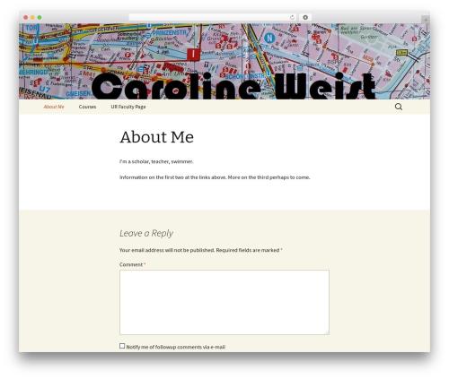 Twenty Thirteen theme WordPress - caroweist.com