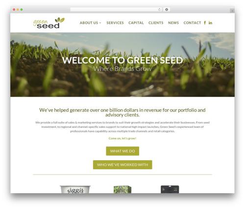 WordPress theme Divi - greenseedna.com