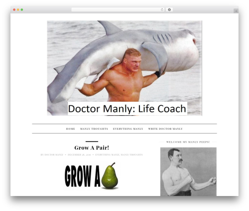 30 Day Blog Challenge WordPress theme - doctormanly.com