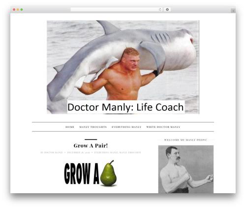 30 Day Blog Challenge WordPress theme - doctormanly.com