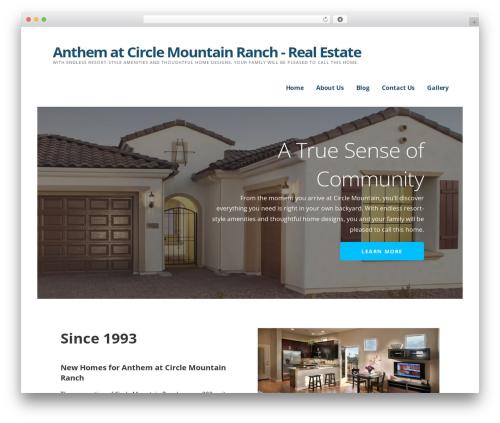 Ascension real estate WordPress theme - anthemcirclemountain.com