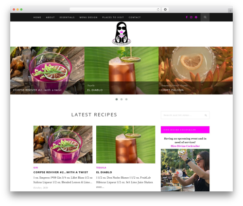 Hemlock WordPress theme - divinecocktailer.com