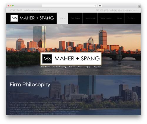 Template WordPress Avada - maherandspang.com