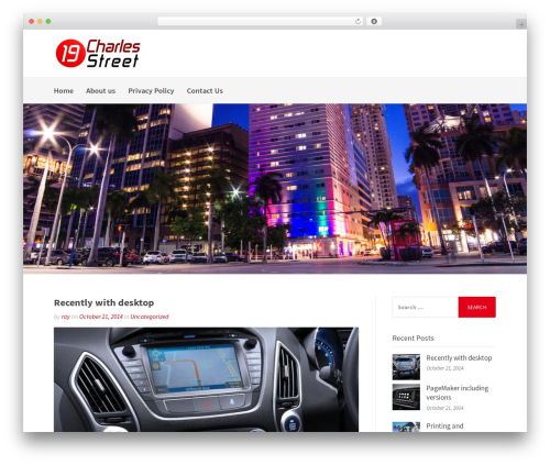 Best WordPress template Gatsby - 19charlesstreet.com