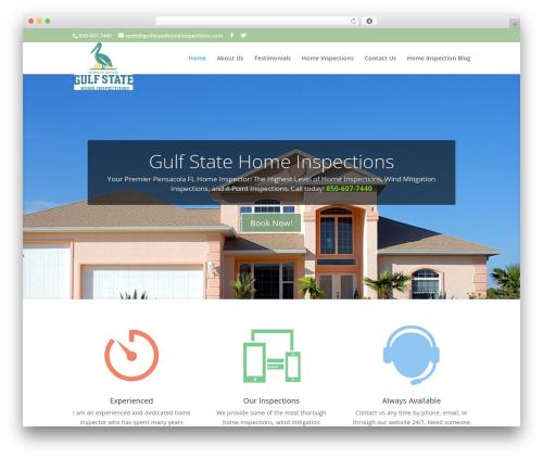 Best WordPress theme Divi - gulfstatehomeinspections.com
