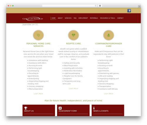 circleoflife best WordPress template - circleoflifehomecare.com