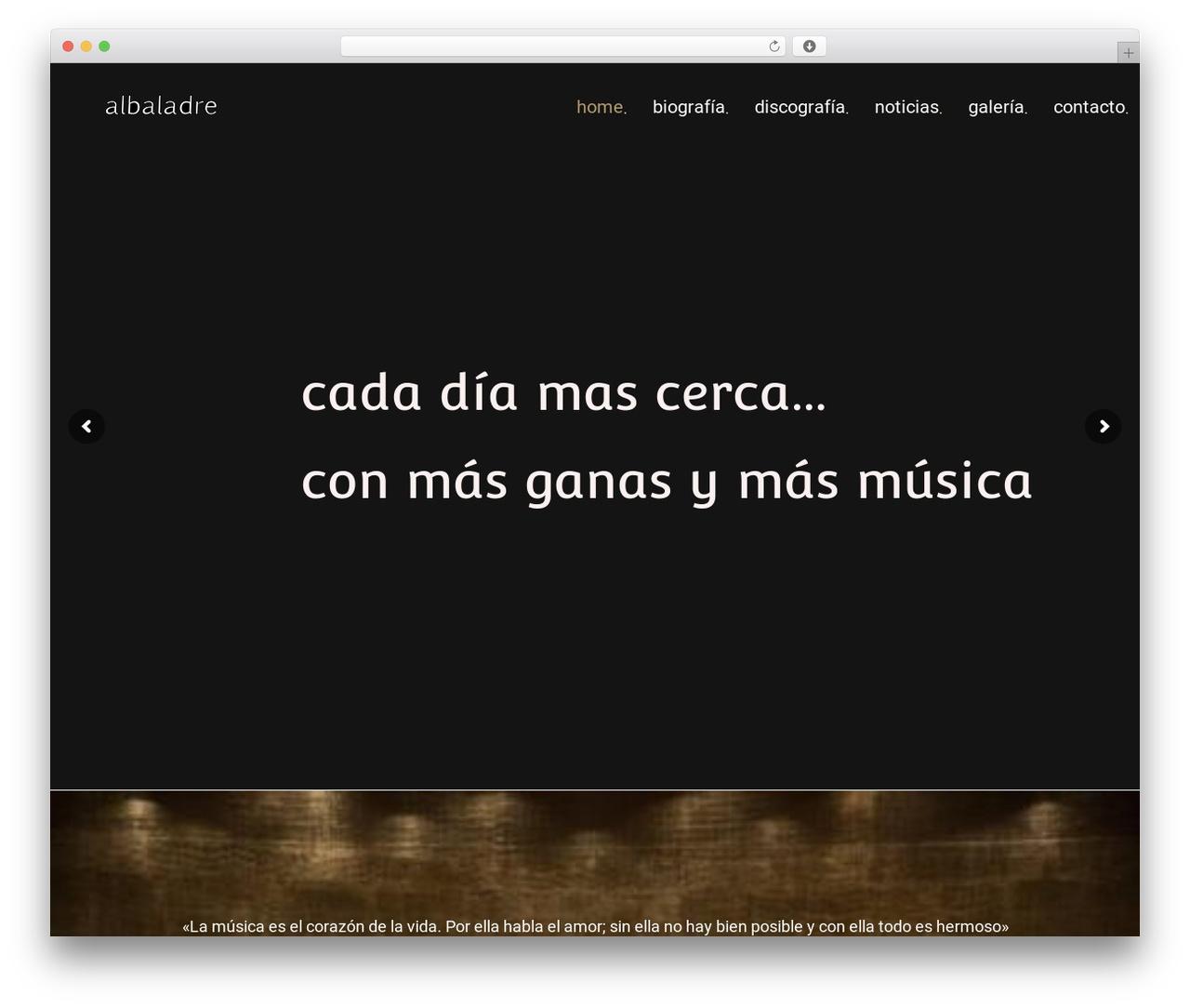 Theme WordPress MUZIQ Jellythemes - albaladre.com