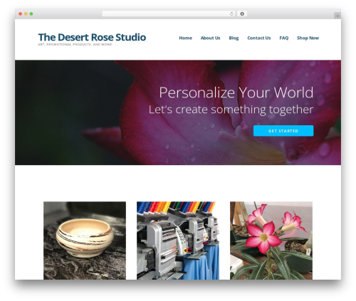 WordPress theme Ascension - thedesertrosestudio.com