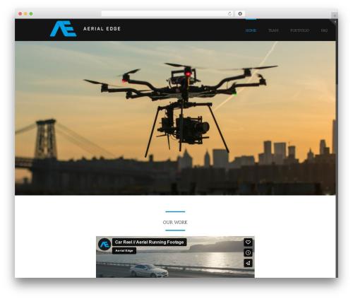 Avada WordPress theme - theaerialedge.com