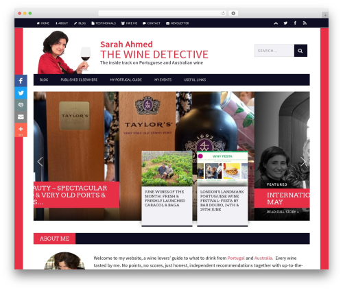 Best WordPress template Bucket - thewinedetective.co.uk
