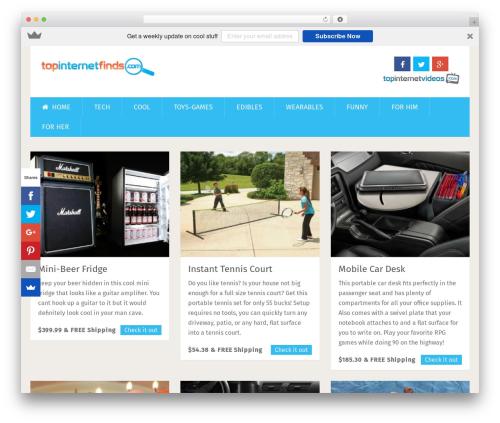 Best WordPress template SociallyViral by MyThemeShop - topinternetfinds.com