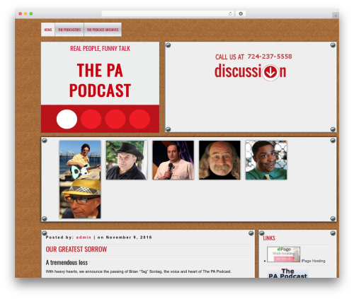Best WordPress theme DISCUSSION - thepapodcast.com