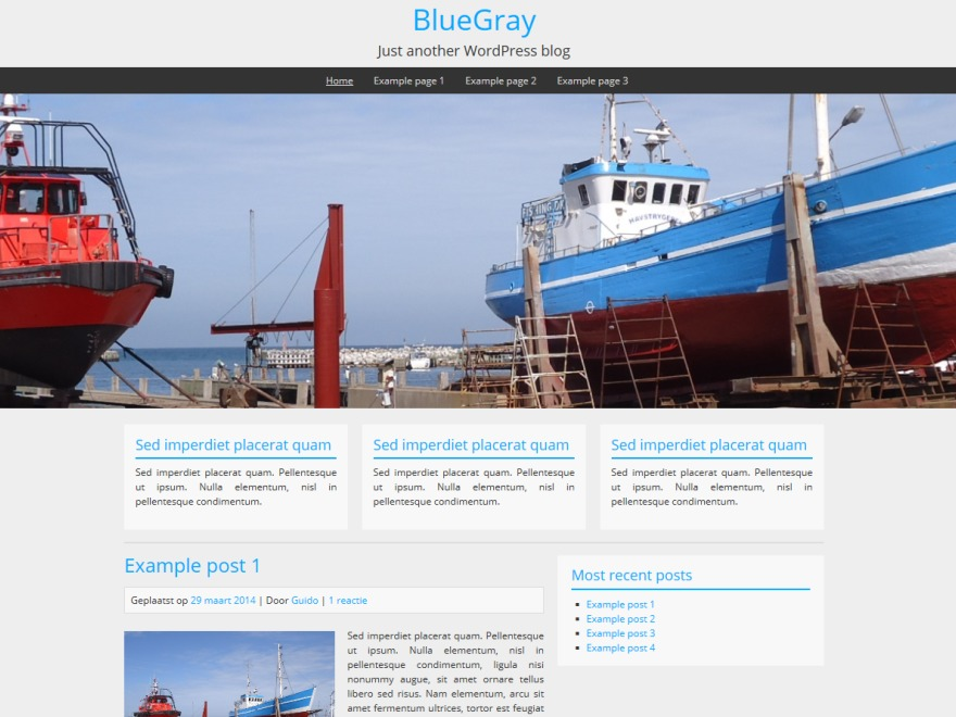 BlueGray WordPress blog theme