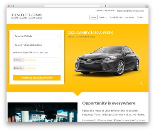 Car Rental automotive WordPress theme - tiestorental.com