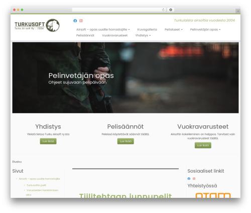 Customizr best free WordPress theme - turkusoft.fi