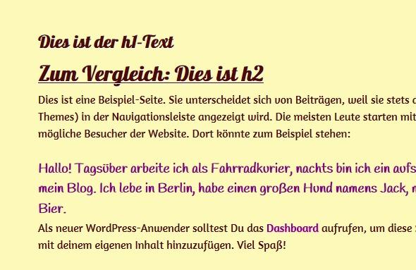 Customizr Child Theme WordPress page template