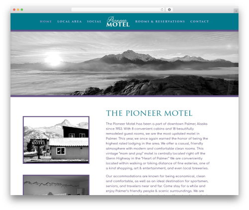 Divi theme WordPress - thepioneermotel.com