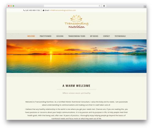 Dream Spa premium WordPress theme - transcendingnutrition.com