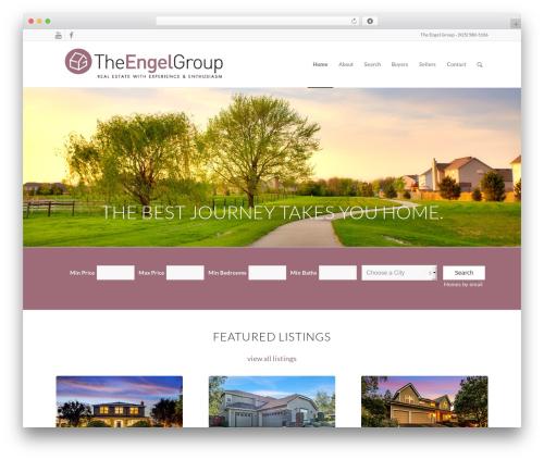 Enfold template WordPress - theengels.com