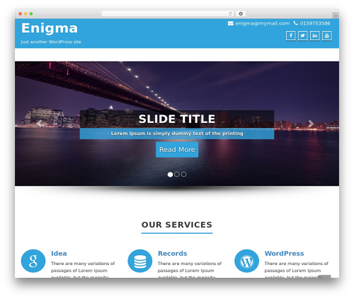 Enigma free website theme - thrvaluation.com