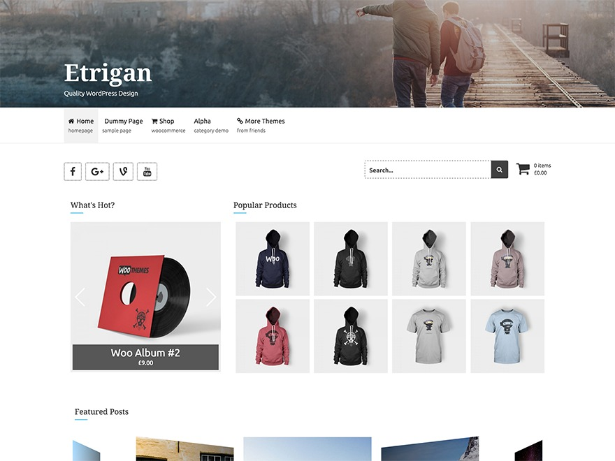 Etrigan WordPress theme free download