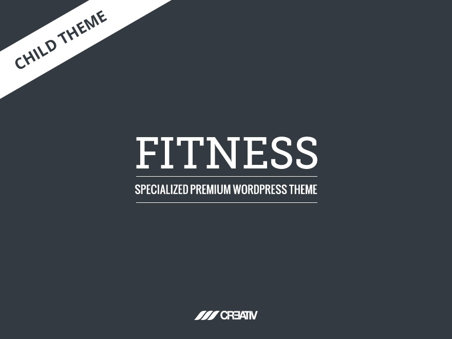 Fitness Child Theme fitness WordPress theme