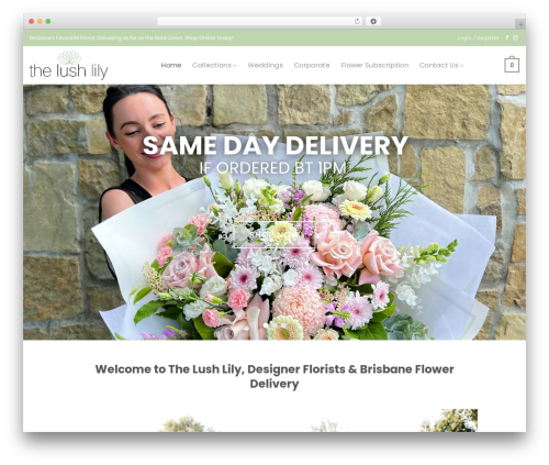 Flatsome top WordPress theme - thelushlily.com.au