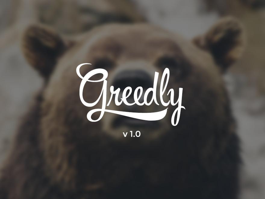 Greedly WordPress blog template
