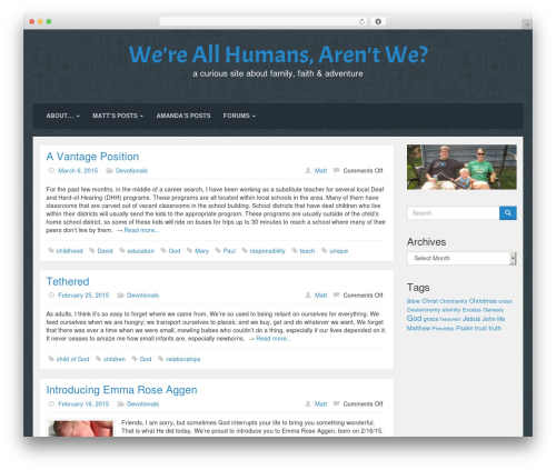 Lana Site free WordPress theme - theaggens.com
