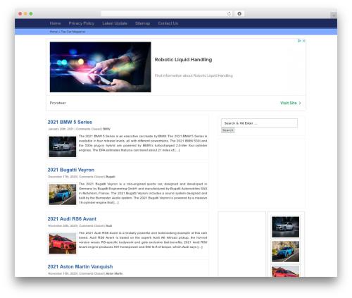 Magnet WordPress theme - topismag.net