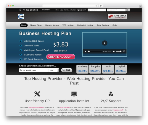 New Evolution WordPress template - tophostpro.com