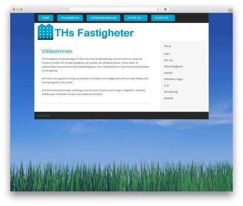 Paradise WordPress website template - thsfastigheter.se